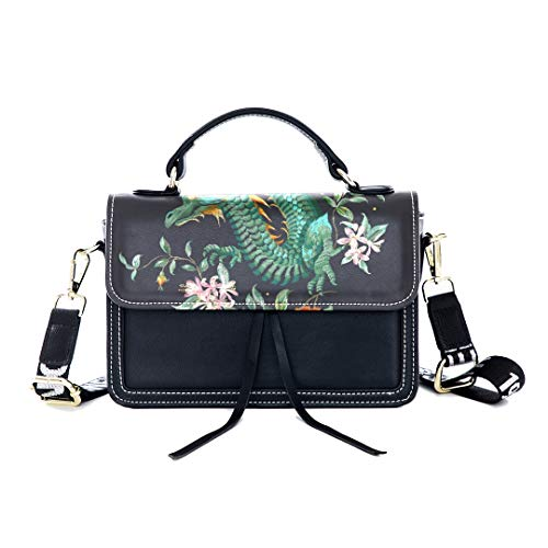 Fashion Unique Handbag Vintage Chinese Golden Dragon Auspicious Chinese Style Print Shoulder Bag Top Handle Tote Flap Over Satchel Purses Crossbody Bags Messenger Bags For Women - Print Top Oriental Dragon