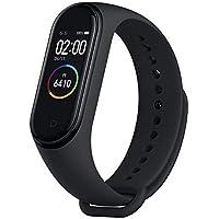 Relógio Inteligente Mi Band 4 Original Xiaomi Smartwatch Pulseira Versão Internacional Língua Inglesa Monitorização de Frequência Cardíaca 0,95 AMOLED Rastreador de Fitness Tela Colorida Prova D'agua até 50m para Android e iOS, Preto