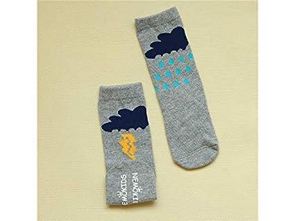 Medias para niños pequeños 6 pares de calcetines de algodón para niños niños primavera y otoño