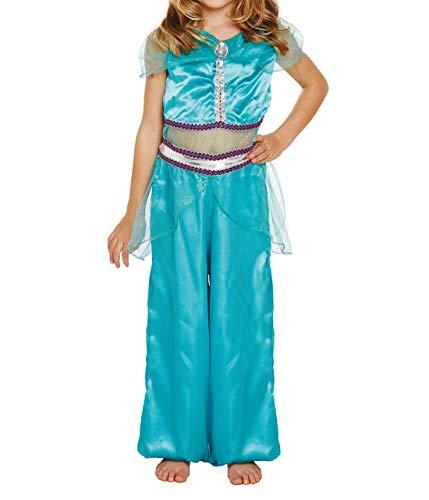 Rimi Hanger Jasmine Arabian Princess Costume Dress Up Princess Costume for Girls Birthday Party Dresses 10-12 Years