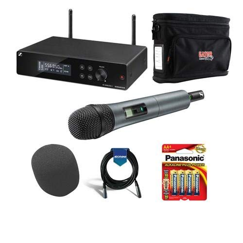 Sennheiser XSW 2-835-A Wireless Handheld Microphone System with e835 Capsule, Includes EM-XSW 2 Receiver, SKM 835-XSW Handheld Transmitter, MZQ1 Microphone Clamp, A: 548 to 572MHz - With Accessory Kit by Sennheiser