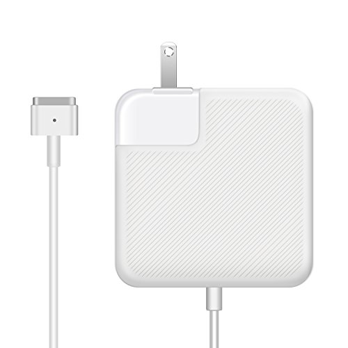Macbook Air Charger, Ac 45w Magsafe 2 ( T-Tip ) Connector Power Adapter Charger for MacBook Air 11-inch and 13 inch ( For Macbook Air Released after Mid 2012 )