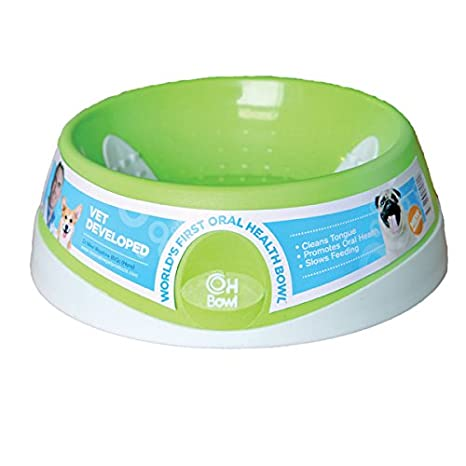 Dishes, Feeders & Fountains Oral Health Cat Bowl Green 16cm