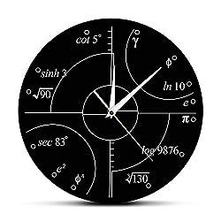 GUABOHHY Advanced Math Irrational Numbers Wall Clock Science Mathematical Wall Art Modern Clock Wall Watch Classroom Decor Teachers Gift