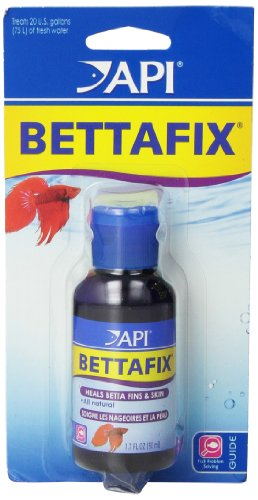 API BETTAFIX Antibacterial & Antifungal Betta Fish Infection and Fungus Remedy 1.7-Ounce Bottle