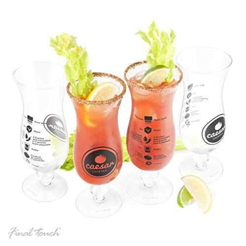 Final Touch Caesar Cocktail Glass, Set of 4