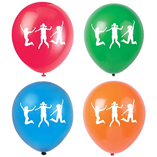 MAGJUCHE Bounce House Birthday Balloons, 15pcs Trampoline Jump Birthday Party Latex Balloon Decorations, Supplies