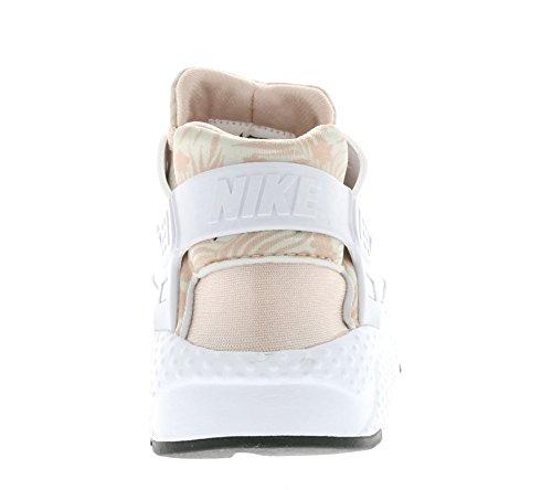 Nike - Huarache Run Print GS - 704946100 - Couleur: Blanc-Orange - Pointure: 37.5