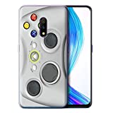 eSwish Gel TPU Phone Case/Cover for Realme X 2019 / White Xbox 360 Design/Games Console Collection