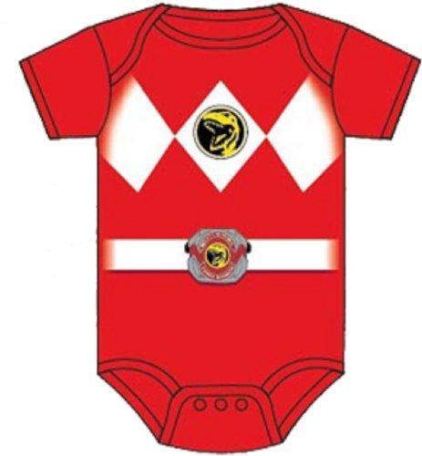 Power Rangers Red Baby Ranger Costume Romper Onesie (12-18 (Power Rangers Samurai Costume Red)