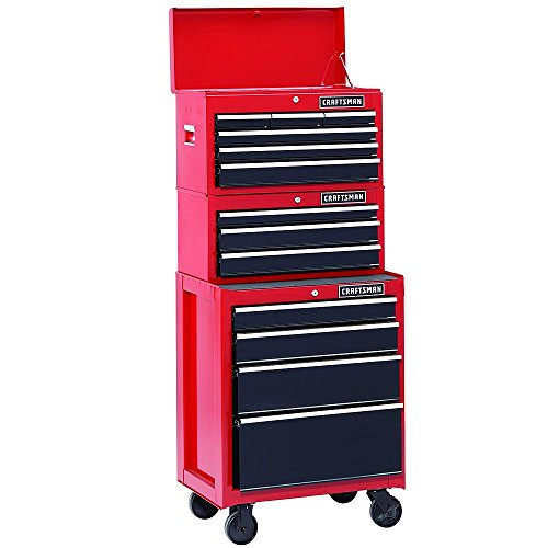 26 In. 13-drawer Heavy-duty Ball Bearing 3-pc Combo Is Perfect for Your Home, Garage or Small Work Shop. This 3 Piece Set Includes a Top Chest, Middle Chest and Rolling Cabinet. Store Small Parts, Hand Tools or Power Tools in These Storage Boxes. (Craftsman Tool Box Set)