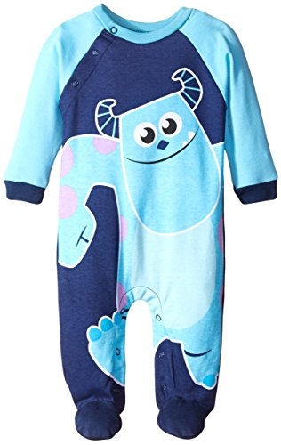 Disney Baby-Boys Newborn Monster Inc Sully Coverall, Blue, 3-6 Months