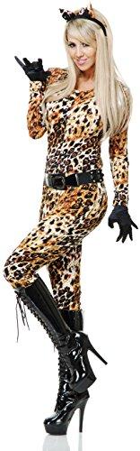 Womens Small 5-7 Cheetaliscious Cheetah Print Jumper Bodysuit Adult Costume (Cheetah Costumes For Adults)