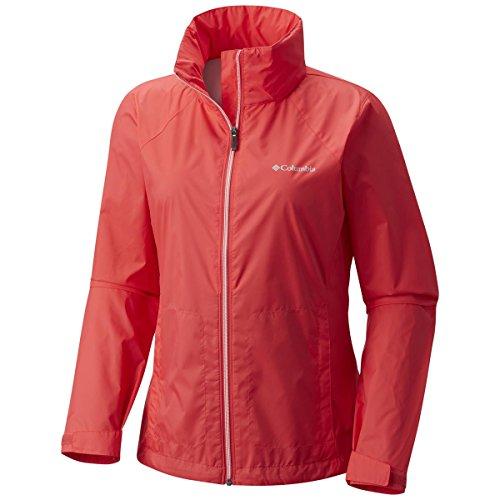 Columbia Women's Switchback III Jacket, Red Camellia, X-Large (Waterproof Nylon Jacket)