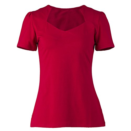 Vintage red tops sweetheart short sleeves pinup T-shirt for women XXL Vintage Ladies T-shirt