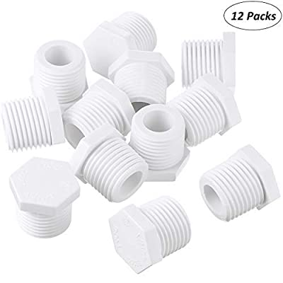 Mudder 12 Pieces 1/2 Inch 11630 91857 Water Heater Drain Plug White Plastic Drain Plug Compatible with RV Camper and Atwood Water Heaters: Automotive