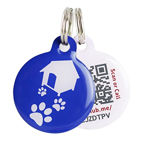 pinmei-stainless-iron-pet-id-tag-qr-code-url-link-phone-tablet-computer-access-powered-by-pethub-blu