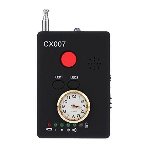 Radio Detector KKmoon Multi-functional Anti-Spy Full-range RF Wireless Signal Hidden Camera Auto-detection Tracer Finder 1MHz-6.5GHz Range Adjustable Sensitivity Scanner