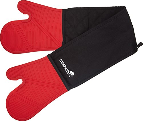 MasterClass Waterproof and Heat-Resistant Silicone Oven Glove with Fingers