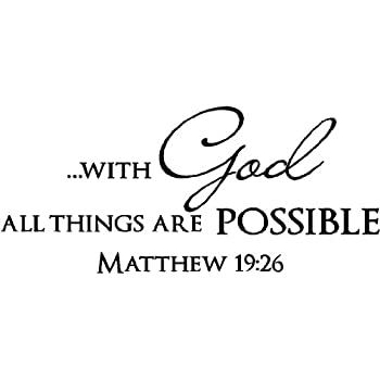 Amazoncom Sticker Perfect 2 With God All Things Are Possible