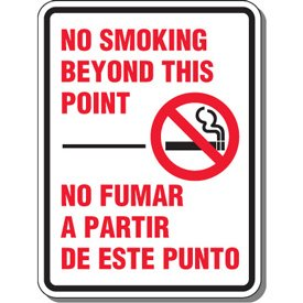 Engineer-Grade Reflective Aluminum Heavy-Duty Smoking Sign