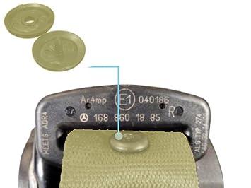 5 X Anschnallgurt Halter Gurtheber beige Sicherheitsgurt Stopper