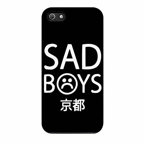 Cover Yung Lean Sad Boys Logo Cover Case / Color Noir Rubber / Device iPhone 5/5s