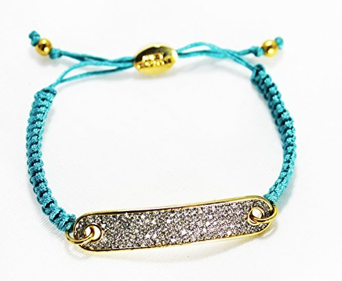 Juicy Couture Friendship String Cord Bracelet (ID Plate/Blue Turquiose) (Juicy Couture Friendship Bracelet)