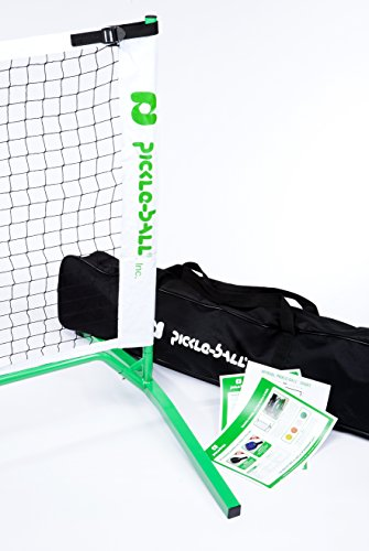30 Portable Pickleball Net System Set Includes Metal Frame and Net in Carry Bag