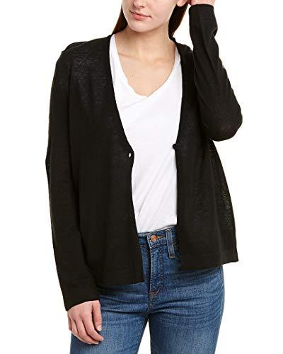 BCBGMAXAZRIA Womens Linen-Blend Cardigan