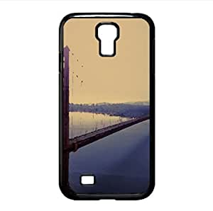 Violet Hour And Fog Surround The Golden Gate Watercolor style Cover Samsung Galaxy S4 I9500 Case (California Watercolor style Cover Samsung Galaxy S4 I9500 Case)