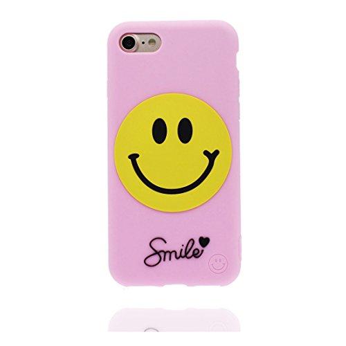 Coque iPhone 7, iPhone 7 étui Cover, [ TPU durable flexible 3D Smiley Chatting Expression ] iPhone 7 Case 4.7 pouces, anti-chocs, des empreintes digitales et stylet
