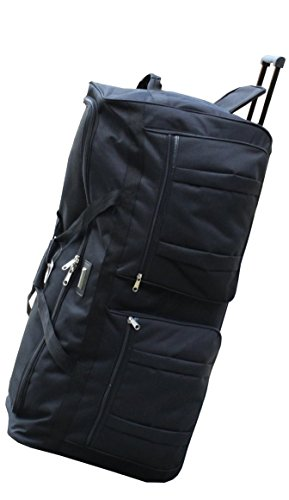 ICE USA 36-inch Wheeled Cargo Outdoor Mountain Hockey Duffle Bag, Black, XL by ICEUSA
