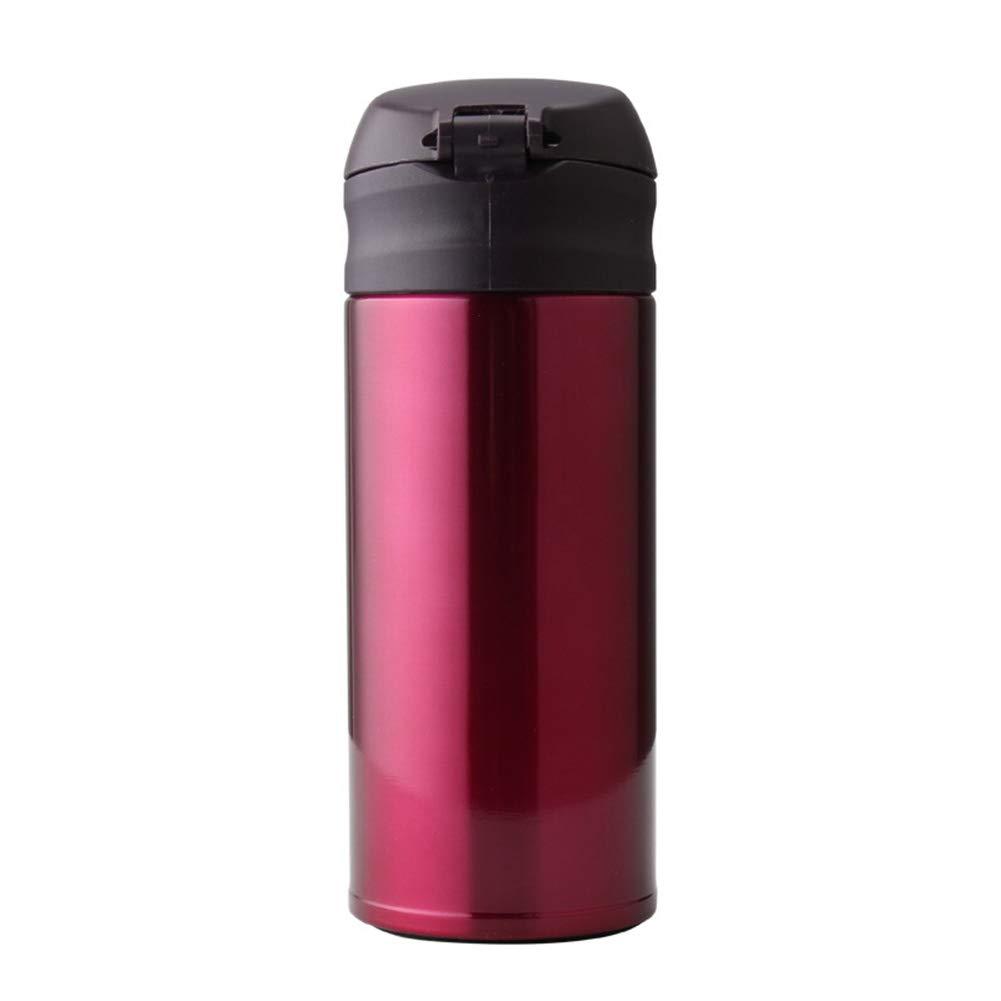 Sportflasche Isolier Becher Thermo Becher Travel Mug Kaffeebecher Wasserflasche Trinkbehälter Trinkflaschen-Tragbarer Outdoor-Reisebecher Aus Edelstahl Mit Vakuum FENPING