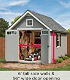 Oakridge 8′ x 12′ Wood Storage Shed
