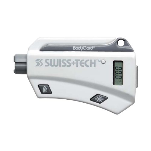 Swiss+Tech ST82560 White 7-in-1 BodyGuard Auto Emergency Escape Tool with Tire Gauge - Gift Tin