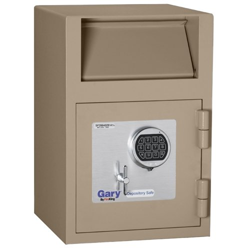 Gary Front Loading Deposit Safe with Electronic Lock, 14 x 21 x 14 Inches, Taupe (Loading Deposit Safe)