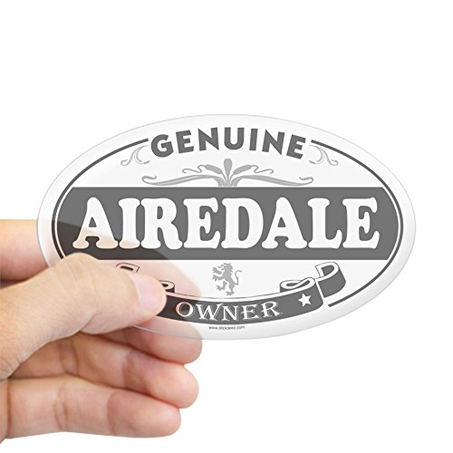 CafePress AIREDALE Oval Sticker Oval Bumper Sticker, Euro Oval Car Decal