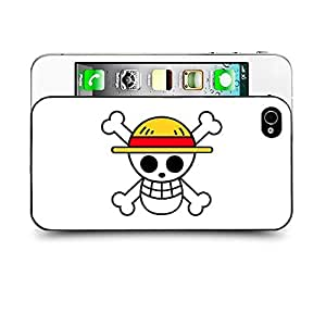 Case88 Designs One Piece Protective Snap-on Hard Back Case Cover for Apple Iphone 4 4s