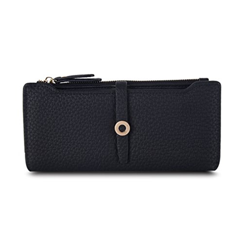 Yosohbag Lovely Leather Long Women Wallet Fashion Girls Change Clasp Purse Money Wallets (Replica Louis Vuitton Purse)