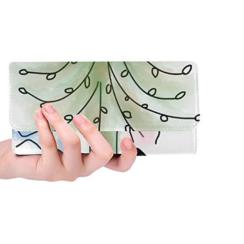 Unique Custom Tree Lovers Young Couple Love Couple Together Women Trifold Wallet Long Purse Credit Card Holder Case Handbag by Jnseff