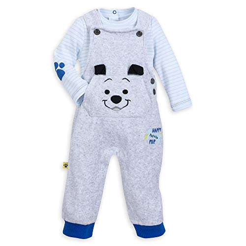 Dungarees 3 (Disney Lucky Dungaree Set for Baby - 101 Dalmatians Size 0-3 MO Multi)