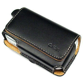 Universal Horizontal Large Eva Pouch Leather Case with Clip - Black for Audiovox 6600, 6700, Palm Treo 600, 650, 700w, 700p, 700wx, 680, 750, 755p,htc 8125, 8525, 8925, Mda, Wing, 6800, Samsung I730, I830, I760, Blackberry 8800, 8820, 8830, 8300, 8310, 8320, Motorola Q9h, Q9m, Q9c