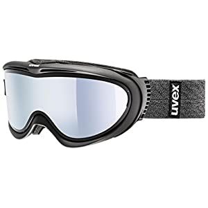 Uvex Comanche Take Off OTG German Made Goggles, White/Black Frame/Laser Gold Lite Base Lens, Medium/40
