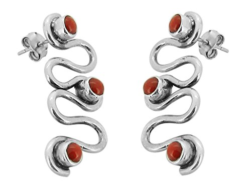 925-fine-silver-earring-coral-stone-zic-zac-women-earring