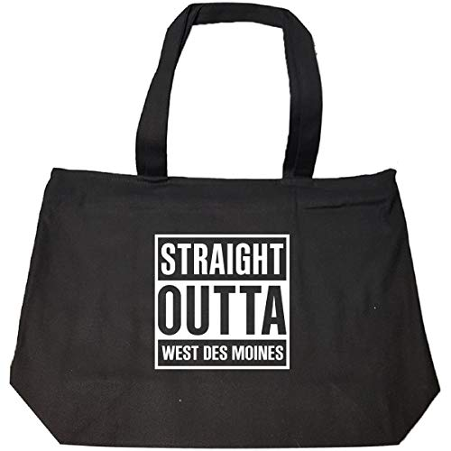 Straight Outta West Des Moines City Cool Gift - Tote Bag With Zip]()