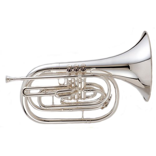 King 1122 Ultimate Series Marching Bb French Horn 1122SP Silver by KING