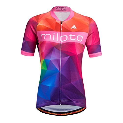 Uriah Women's Cycling Jersey Short Sleeve Reflective Big Universe Size M(CN) (Feet 3 Cycling Jersey)
