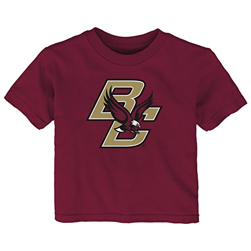 NCAA Boston College Eagles Infant Primary Logo Short Sleeve Tee, 12 Months, Garnet