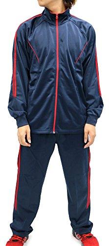 CCL Sports Men's Tracksuit 2 Line Track Jacket and Pants 2 P